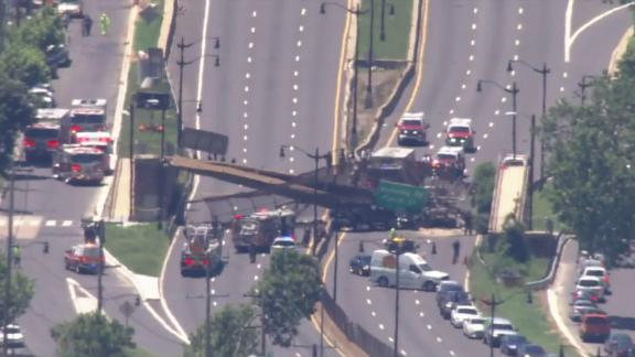 Several people were injured in a pedestrian bridge collapse in Washington, DC on Wednesday.
