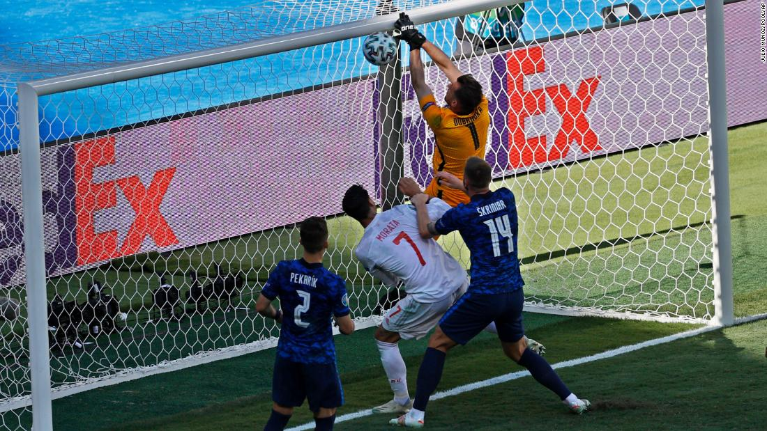 Goalkeeper's astonishing own goal hands Spain path to Euro 2020's knockout stages