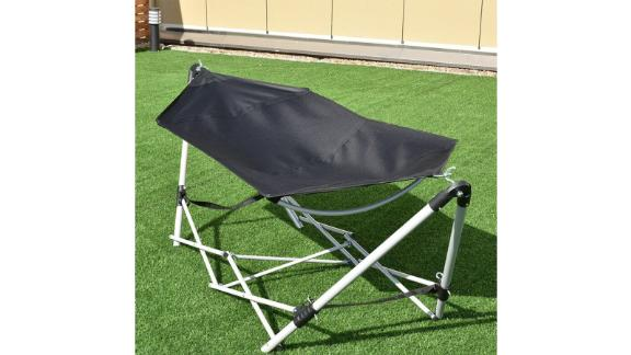 Arlmont & Co. Zadie Portable Folding Steel-Frame Camping Hammock with Stand