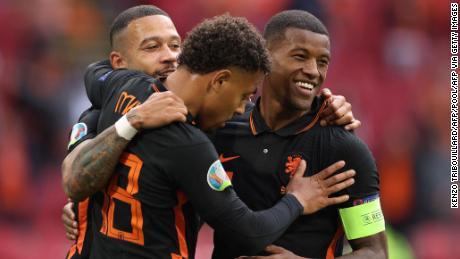 Georginio Wijnaldum has been in fine form for the Netherlands.