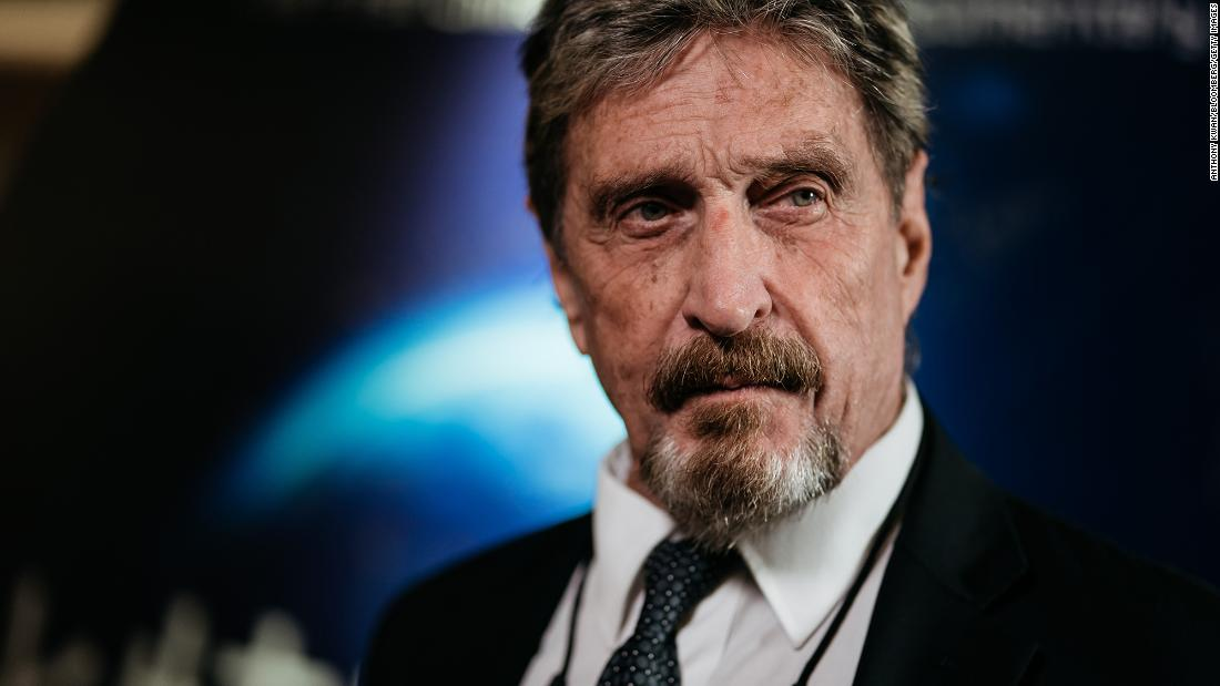 John McAfee found dead in Spanish prison after his extradition to the US was approved - CNN
