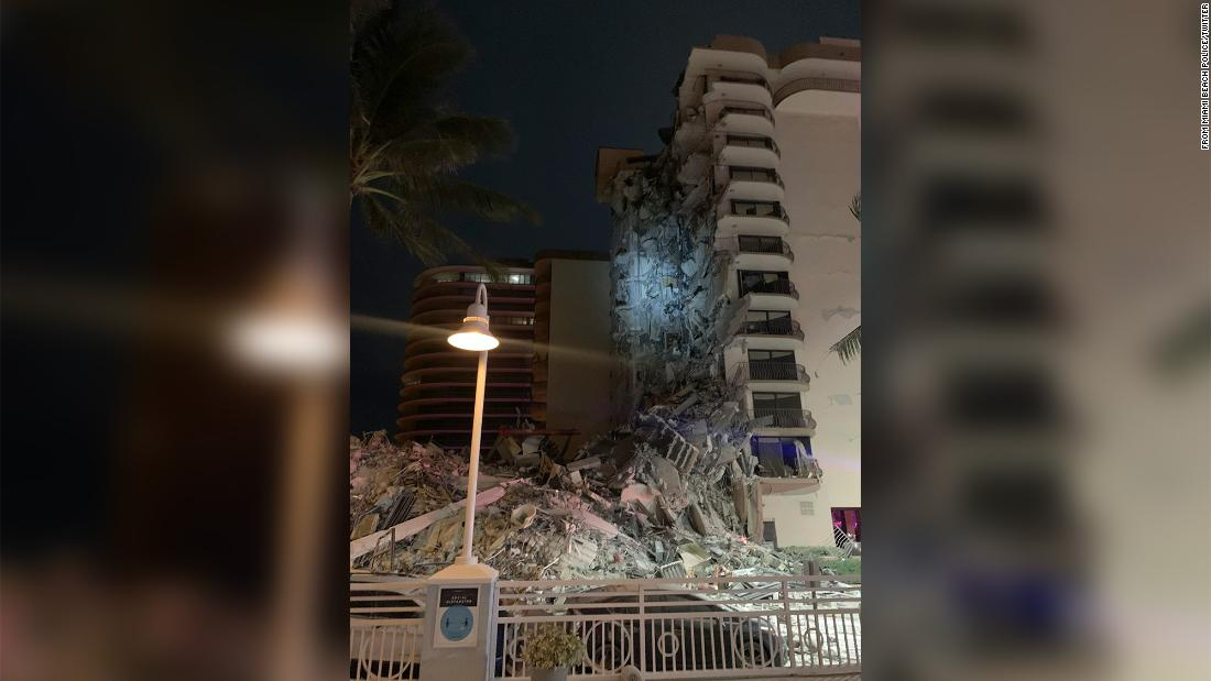 A multi-story building near Miami has partially collapsed, authorities say