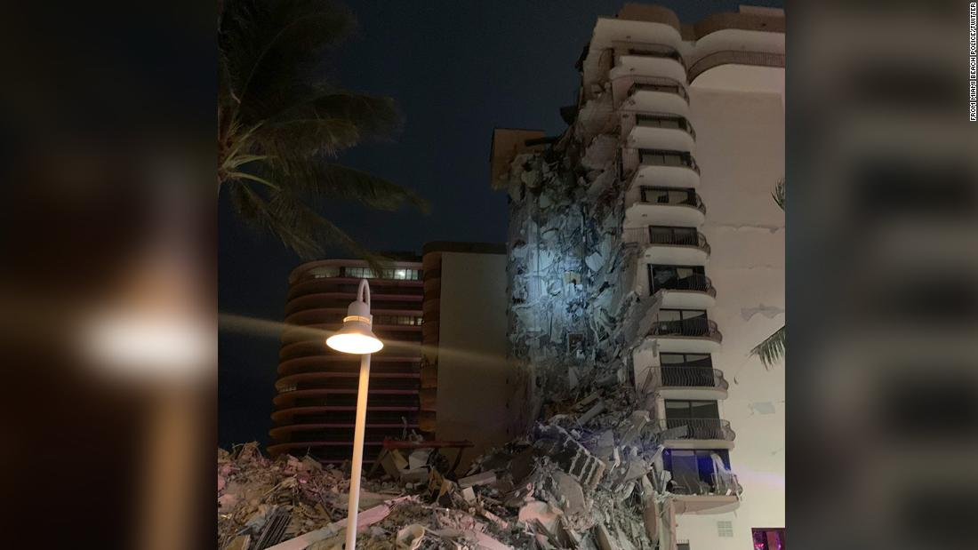 A multi-story building near Miami has partially collapsed authorities say – CNN