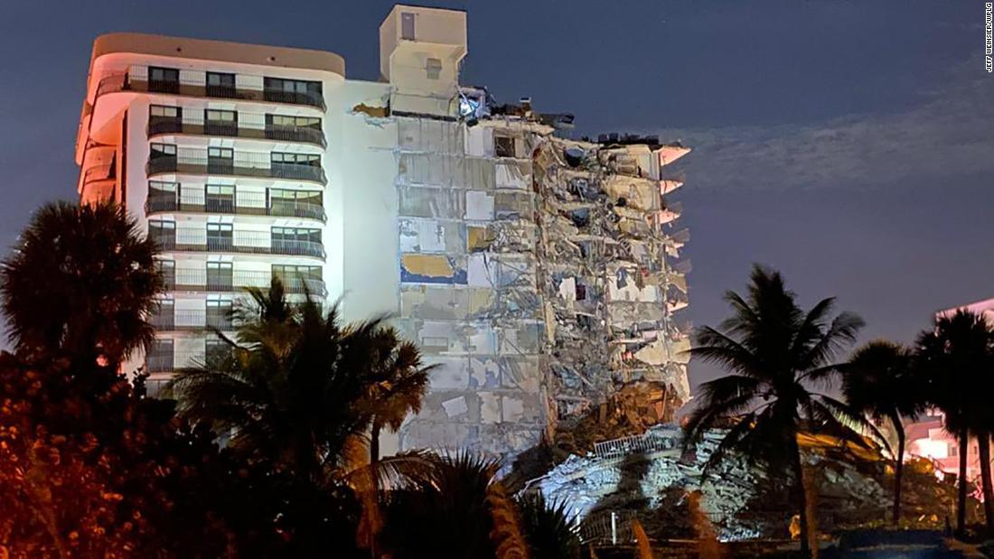 A multistory residential building in Surfside, Florida, partially collapsed, killing at least 1, mayor says