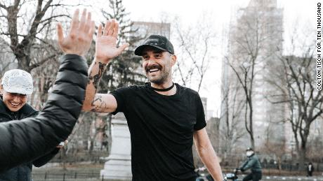 Robbie Balenger says he has a spiritual connection with running which has helped him forge a new identity.