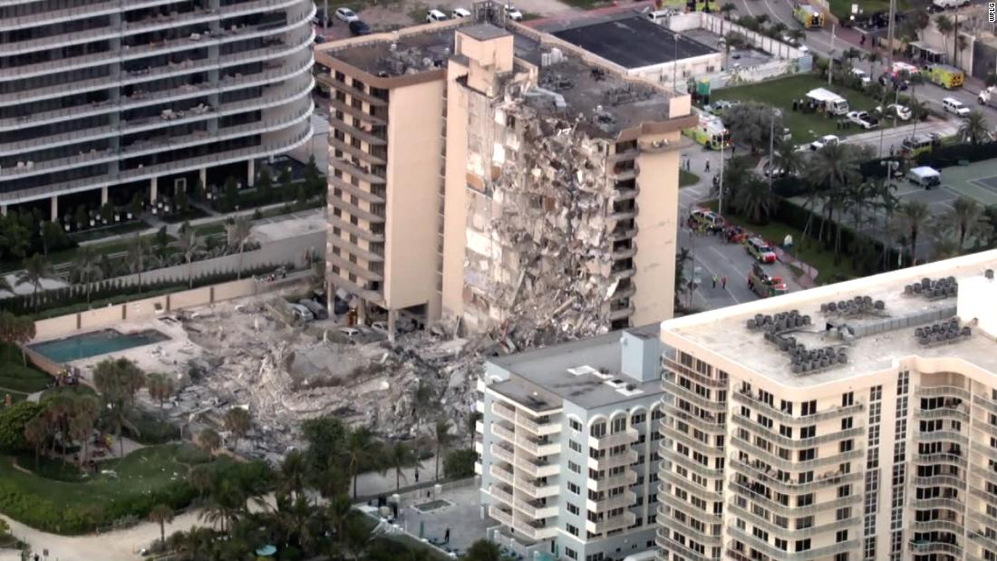 99 missing after Florida condo partly collapses