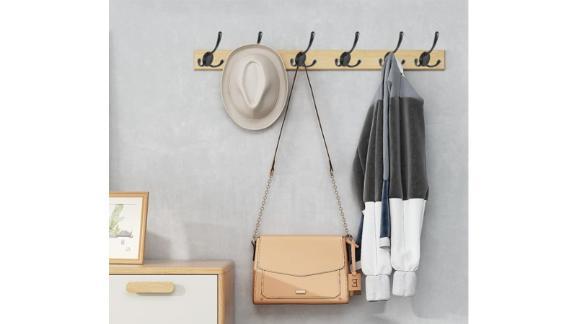 Wall Mounted Black Coat Hooks