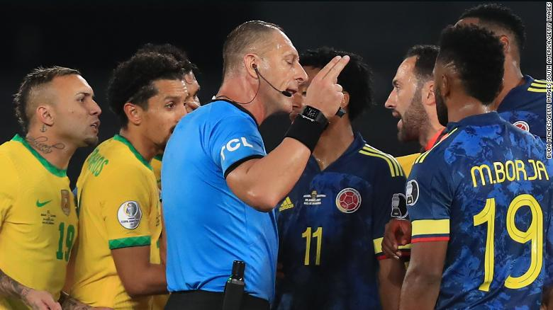 Referee controversy overshadows Brazil's Copa América win over Colombia