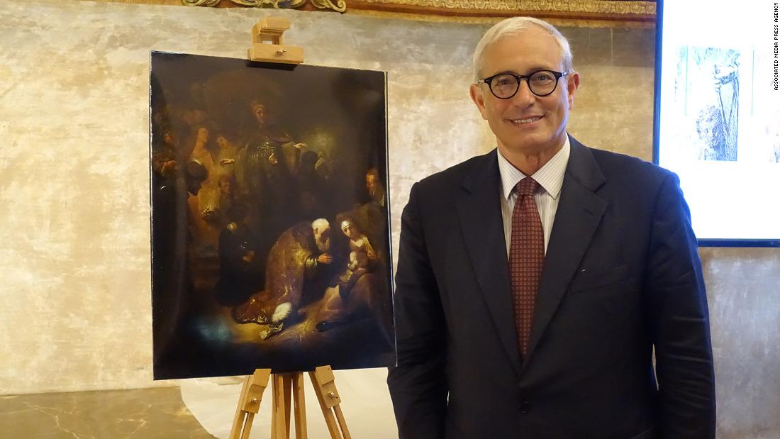 Rembrandt masterpiece thought lost is found after falling off wall