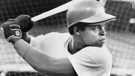 Glenn Burke, pictured here in 1977, was lauded for his talent on the field but privately criticized for his sexuality, author Andrew Maraniss writes.