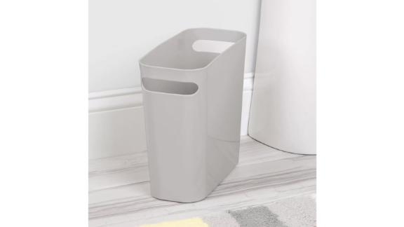 mDesign Slim Plastic Wastebasket with Handles