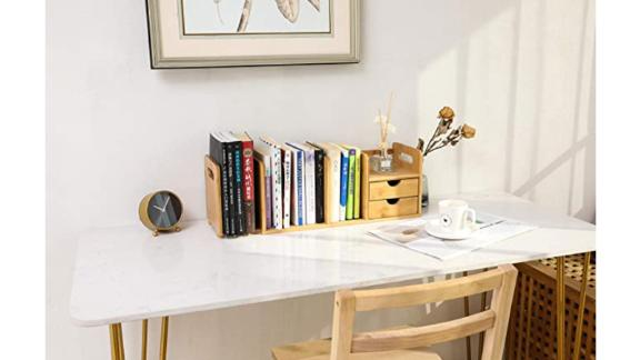 Extendable Desktop Organizer with Drawers