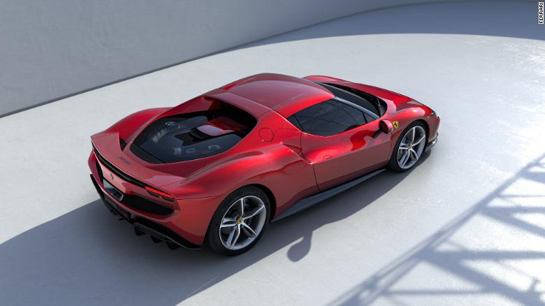 The 296 GTB has a small spoiler that comes up from the back when driving at high speeds.