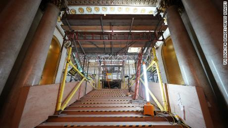 The Grand Staircase is almost unrecognizable.