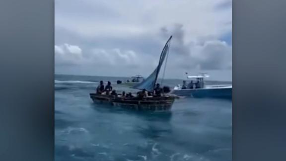 CNN's Patrick Oppmann gains exclusive access to the port where those trying to flee Cuba are returned by the U.S. Coast Guard. Cuba is seeing record daily cases of Covid-19 while Trump-era sanctions, Covid restrictions and the collapse of tourism have hit the island's economy and peoples' incomes hard.