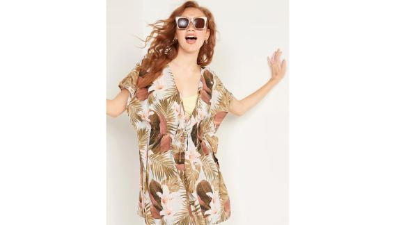 Old Navy Soft-woven caftan swim cover with a tie belt