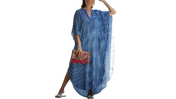 Bsubseach plus size beach shirt dress cover up