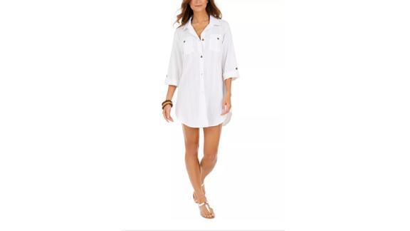 Dotti Travel Muse Cotton Shirt Dress Cover-Up