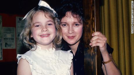 """Drew Barrymore, photographed here with her mother Jaid in 1982, opened up about their relationship in her memoir, """"Wildflower."""""""