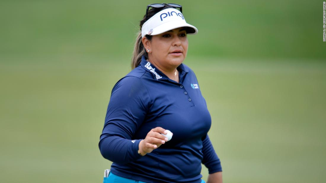 US golfer Lizette Salas opens up about mental health battle after taking Women's PGA Championship lead