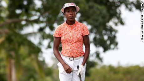 Oboh prepares to play during the 54th Junior Orange Bowl International Golf Championship.