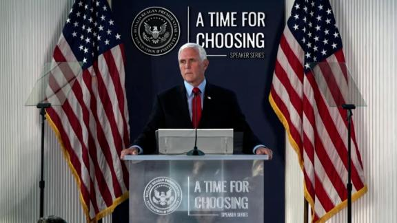 Former Vice President Mike Pence rebuked former President Donald Trump on Thursday night on the question of overturning the results of the 2020 presidential election.