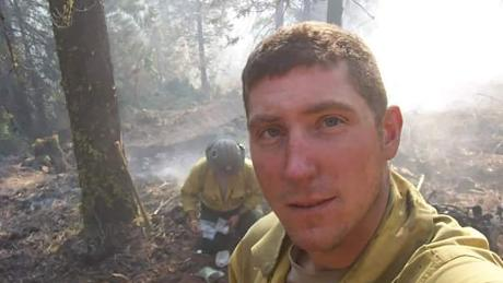 Veteran hotshot DJ McIlhargie fights a wildfire in the Klamath National Forest in 2009.