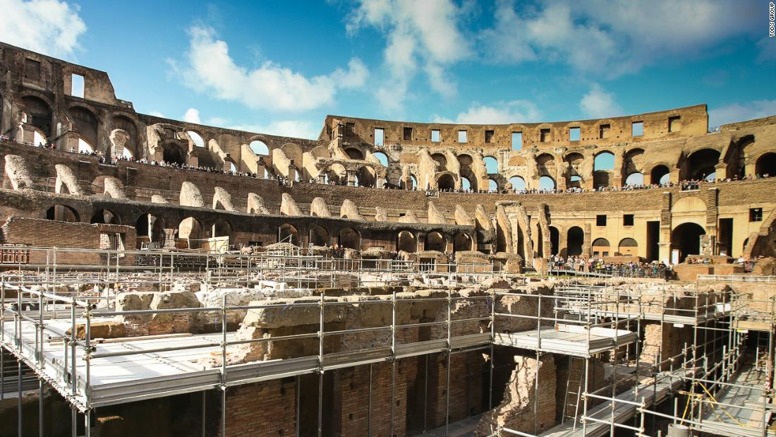 Rome's Colosseum opens its underground for the first time in its history
