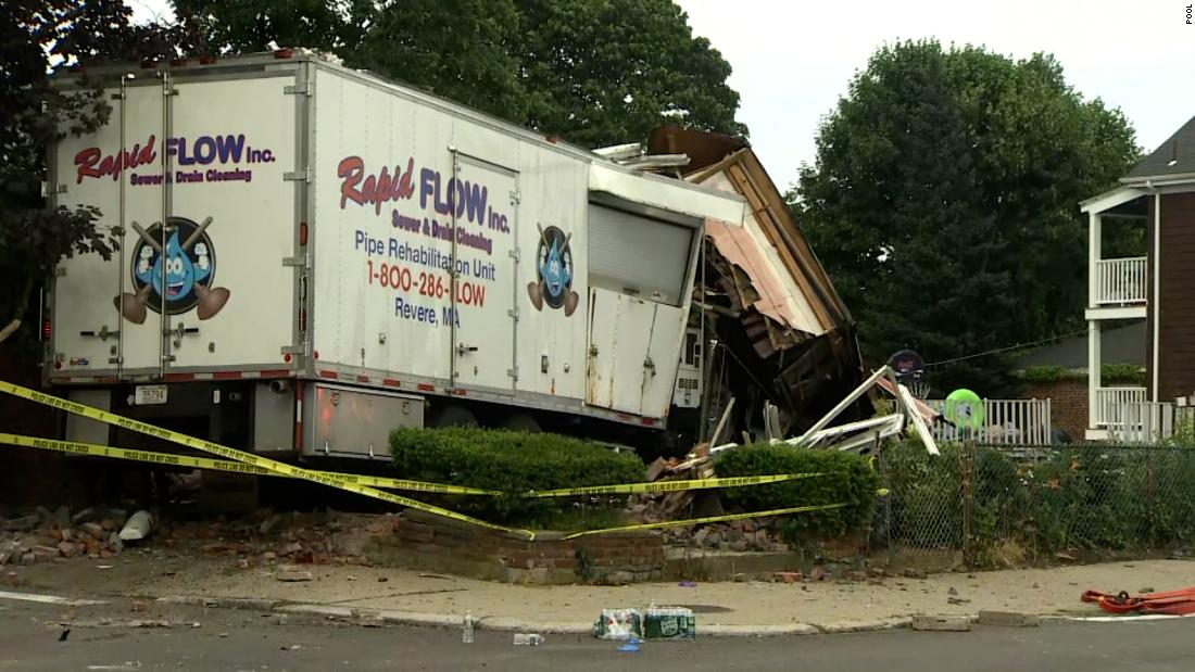 Man Kills Two People After Crashing Stolen Truck Into House in Boston