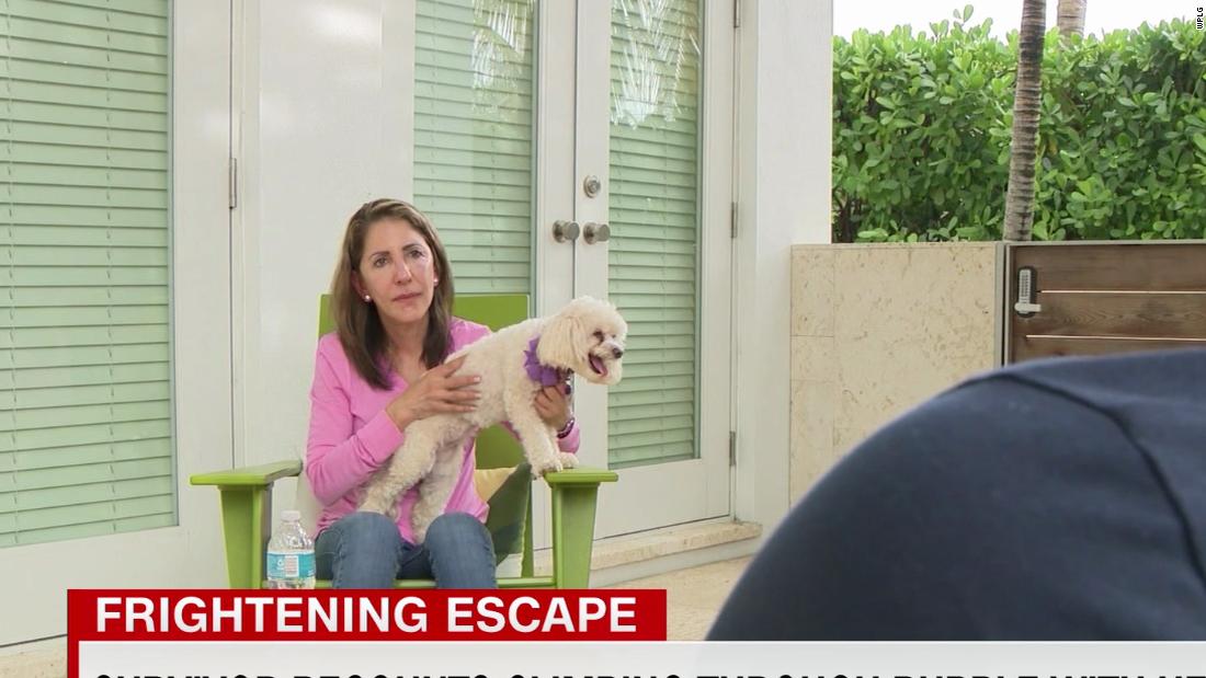 210627075432 florida building collapse woman escapes with dog affil pkg vpx 00013304 super tease
