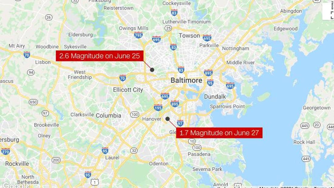 2 earthquakes in 3 days rattle ... Baltimore