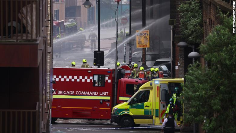 Smoke billows from London train station as fire crews tackle blaze