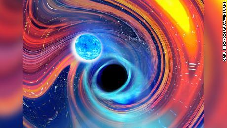 & # 39;  Pac-Man & # 39;  En el espacio: los agujeros negros devoran estrellas de neutrones en la primera evidencia de un raro evento celeste