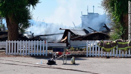 The Sacred Heart Church on the Penticton Indian Reserve was one of four Catholic churches burned in overnight fires last week.