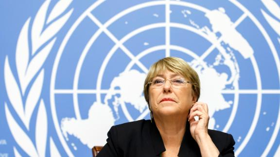 """The UN's High Commissioner for Human Rights Michelle Bachelet, pictured here, urged the US to make """"transformative change for racial justice and equality."""""""