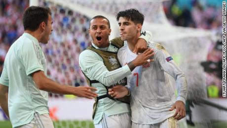 Альваро Мората боровся на Євро-2020 до голу проти Хорватії.