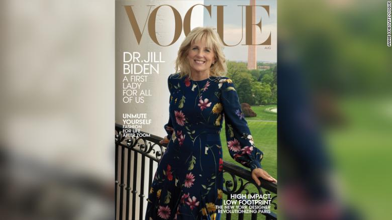 Jill Biden on the new cover of Vogue magazine