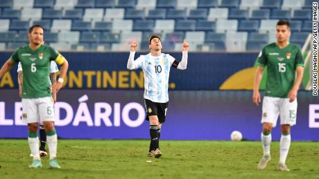 Messi is also Argentina's record scorer.