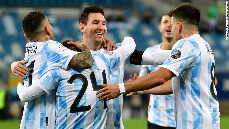 Messi scores two and assists once while becoming Argentina's most capped player