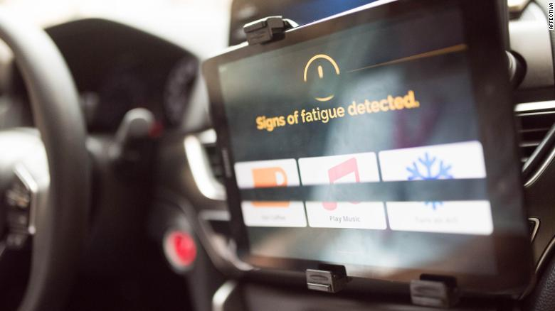 Affectiva's emotion-reading AI software is being applied to driver monitoring systems, to detect drowsiness.