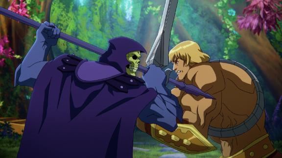 Skeletor (voiced by Mark Hamill) and He-Man (Chris Wood) face off in 'Masters of the Universe: Revelation.'
