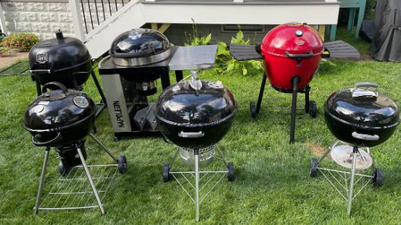 A variety of charcoal grills from Weber, Napoleon, Cuisinart, Char Griller and Oklahoma Joe's.