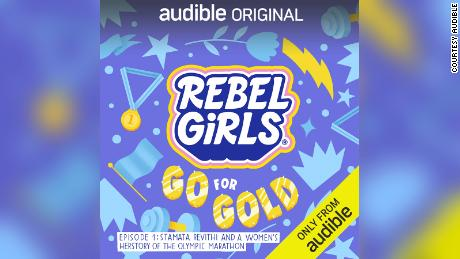 """The """"Rebel Girls Go for the Gold""""  podcast stream on Audible."""