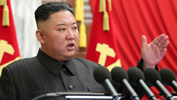 """In this photo provided by the North Korean government, North Korean leader Kim Jong Un speaks during a Politburo meeting of the ruling Workers' Party in Pyongyang, North Korea, Tuesday, June 29, 2021. Kim ripped into senior ruling party and government officials over what he described as a serious lapse in national efforts to fend off COVID-19. The North's official Korean Central News Agency said Wednesday, June 30, 2021 that Kim made the comments during the meeting, which he called to discuss a """"grave incident"""" in anti-epidemic work that he said created a """"huge crisis"""" for the country and its people. The content of this image is as provided and cannot be independently verified.(Korean Central News Agency/Korea News Service via AP)"""
