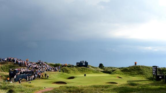 SOUTHPORT, ENGLAND - JULY 22:  General View of the 12th hole during the third round of the 146th Open Championship at Royal Birkdale on July 22, 2017 in Southport, England.  (Photo by Stuart Franklin/Getty Images)