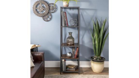 Walker Edison Dark Walnut Bookcase