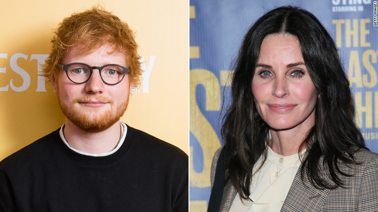 Ed Sheeran keeps pulling the same prank on Courteney Cox
