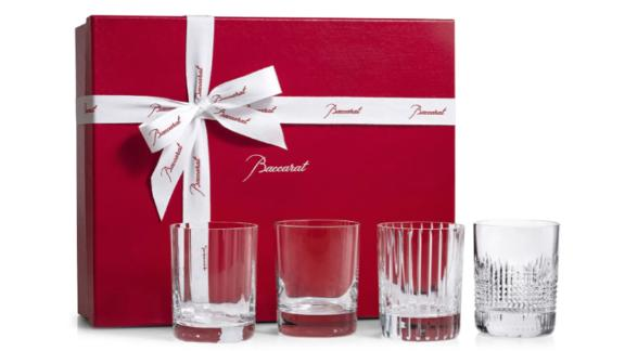 Baccarat Four Elements Lead Crystal Tumblers, Set of 4