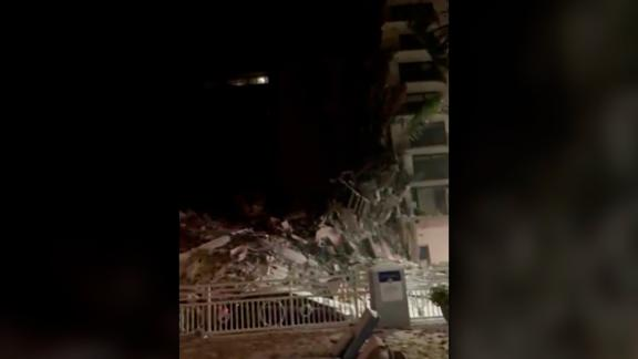 Image for New video shows moments just before and after condo collapse