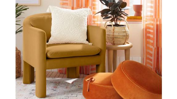 Opalhouse Designed With Jungalow Linaria Fully Upholstered Velvet Accent Chair
